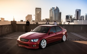 Picture turbo, lexus, red, japan, toyota, jdm, tuning, low, height, is200, stance, is300, roof, rs200, XE10, …