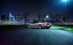 Picture Ferrari, Car, 360, Modena, Wheels, Before, Rear, Garde, Ligth, Nigth