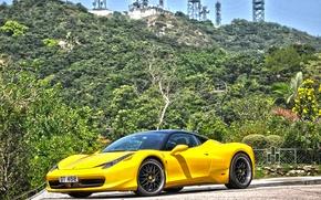 Picture Ferrari, 458, art, Italia, AUTO, VYC, 20 Satin Black Center