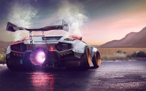 Picture Concept, Lamborghini, Fire, Power, Jet, Countach, Engine, by Typerulez