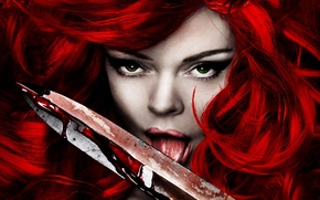 Wallpaper blood, red Sonja, blade, the tip, red sonja