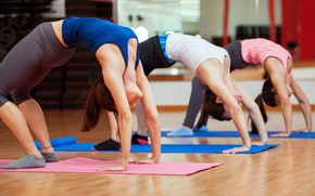 Picture pose, group, yoga, workout, class