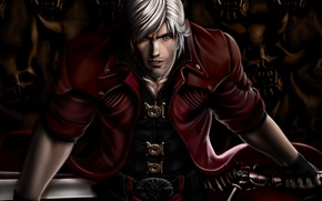Picture weapons, sword, art, guy, devil may cry, dante