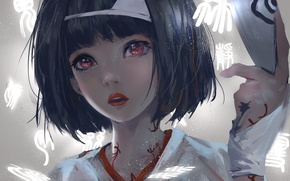 Picture girl, anime, art, characters, nora, noragami, wlop