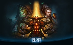 Picture starcraft, blizzard, diablo, Orc, warcraft, wow, Thrall, ork, Thrall, blizzcon