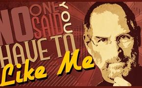Picture labels, Steve Jobs, Steve Jobs, like me