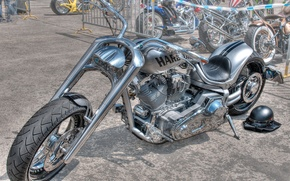 Picture design, style, background, HDR, silver, motorcycle, form, bike