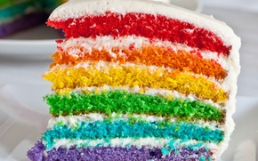 Wallpaper color, rainbow, cake, layer, holiday, cake, glaze