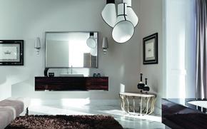 Picture white, design, interior, brown, art Deco