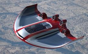 Wallpaper flight, the concept, The plane