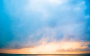 Picture sea, dawn, Mexico