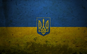 Picture blue, yellow, country, blue, texture, characters, signs, flags, texture, symbols, country, coat of arms, Ukraine, ...