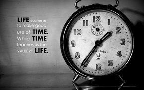 Picture old, black and white, time, clock, allarm