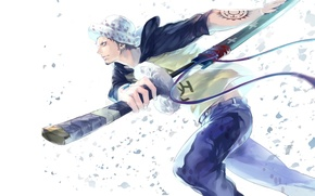 Picture sword, anime, art, guy, One Piece