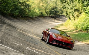 Picture asphalt, Ferrari, track, Berlinetta, F12