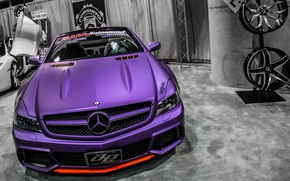 Picture purple, tuning, Mercedes, Benz, convertible, drives, SL65