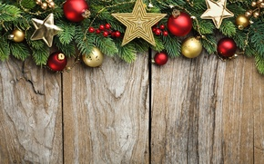 Picture stars, decoration, branches, balls, tree, New Year, Christmas, Christmas, wood, decoration, Merry