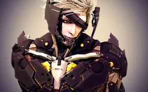 Wallpaper Raiden, Metal Gear Rising: Revengeance, render, cyborg, face, art