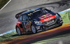 Picture Peugeot, Peugeot, The front, rallycross, 208, T16, WorldRX, Hansen