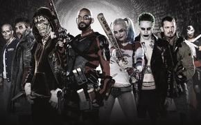 Picture heroes, dc comics, villains, suicide squad, suicide squad