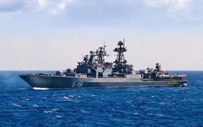 """Picture ship, large, anti-submarine, """"Admiral Panteleev"""", 1155 draft"""