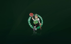 Wallpaper NBA, Background, Green, Basketball, Logo, Boston, Boston Celtics