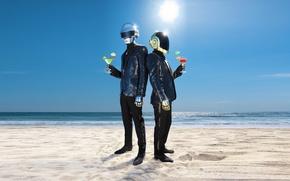 Picture beach, Duo, Daft Punk, electronic, Thomas Bangalter, Daft Punk, Guy-Manuel de homem-Christo