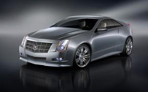 Wallpaper silver, Cadillac, CTS