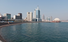 Picture sea, the city, Qingdao