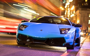 Picture night, the city, excerpt, lamborghini, murcielago