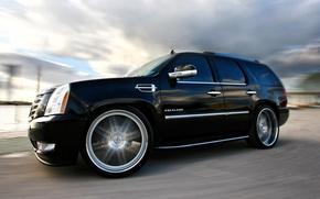 Picture Cadillac, Black, Wheel, Machine, Tuning, Speed, Turn, Car, Escalade, Car, Speed, Black, Wallpapers, Tuning, Beautiful, …