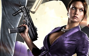 Picture look, girl, weapons, Saints Row