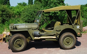 "Picture war, car, army, 1944, Jeep, high, patency, world, Second, times, ""Willis-MV"", Willys MB"