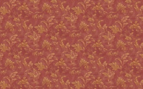 Wallpaper leaves, branches, red, background, Wallpaper, texture, ornament, vintage, floral patterns
