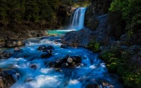 Picture river, waterfall, New Zealand, New Zealand, Tawhai Falls, Tongariro National Park, Tongariro national Park