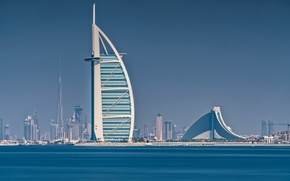 Wallpaper Burj Khalifa, home, Burj al Arab, Dubai, the hotel, sea, UAE, sail