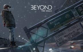 Picture snow, Quantic Dream, highway, Beyond: Two Souls, Ellen Page, Jodie Holmes