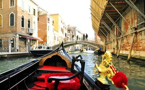 Picture the city, Italy, Venice, channel, gondola