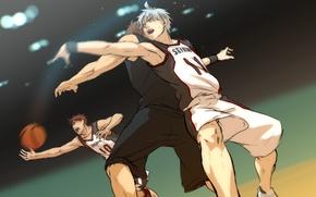 Picture sport, the game, the ball, sweat, Kuroko Tetsuya, Kagami Taiga, kuroko's basketball, Kuroko from basket, …