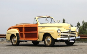 Picture Ford, car, classic, cars, classic, Super, 1948, Convertible, Deluxe, Sportsman