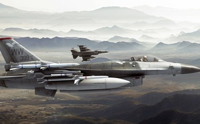 Picture art, F-16, UNITED STATES AIR FORCE, General Dynamics, roen911, fighting falcons