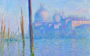 Picture picture, Cathedral, the urban landscape, Claude Monet, The Grand canal in Venice