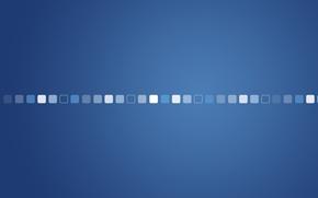 Wallpaper minimalism, squares, creative, Cuba, cubes, blue background