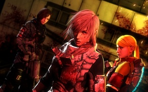 Picture blood, Final Fantasy XIII, Lightning, Square Enix, Resident Evil, fan art, Jill Valentine, Samus Aran, …