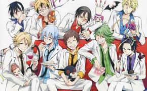 Picture anime, guys, servant vampire, Servamp