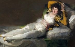 Picture bed, picture, genre, Francisco Goya, Dressed Mach