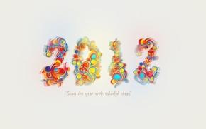 Wallpaper holiday, new year, 2012