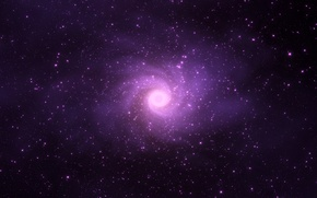 Picture star, cosmos, violet lights