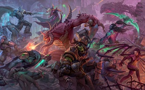 Picture Heroes of the Storm, sarah kerrigan, warcraft, diablo, starcraft, Kael'thas, thrall, tychus more, illidan stormrage, ...