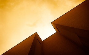 Picture the sky, light, house, wall, angle
